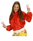 rotes Hemd mit Rüschen für Damen