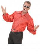 Rotes Discohemd für Herren