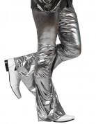 Glamouröse Disco-Schlaghose für Herren silber