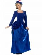 Viktorianische Prinzessin Damen-Kostüm blau