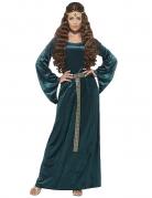 Mittelalterliche Königin Damenkostüm grün
