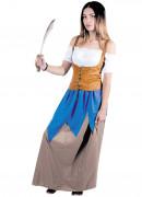 Piratenbraut Damenkostüm für Karneval bunt