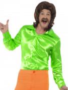 Satinhemd grün für Herren