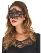 Venezianische Maske mit Spitze schwarz