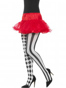 Zirkus - Strumpfhose schwarz-weiß für Damen