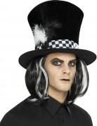 Zylinder mit Haaren für Erwachsen Halloween
