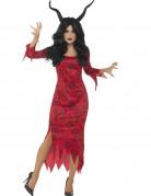 Teuflische Dämonin Damen-Kostüm rot-schwarz