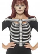 Skelett Thorax Halloween-Accessoire grau