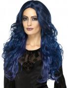 Lange dunkelblaue Perücke für Damen