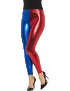 Leggings metallic blau und rot Damen