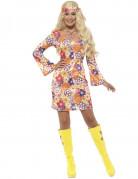 Hippie Kostüm orange Damen