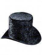 Schwarzer  Zylinder-Hut aus Velours