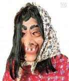 Halloween-Maske Hexe für Damen
