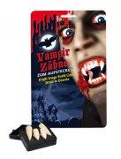 4 Vampir-Zähne für Erwachsene weiß
