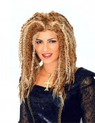 Rasta Dreadlock Perücke für Damen blond