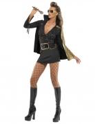 Elvis Star-Kostüm für Damen schwarz-gold