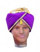 Turban für Herren violett Bollywood Orient
