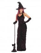Magisches Hexenkostüm für Damen Halloween Magierin schwarz
