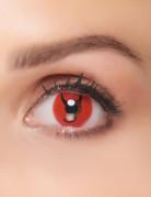 Teuflische Kontaktlinsen Kostümzubehör schwarz-rot