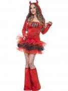 Verführerische Teufelin Damenkostüm für Halloween rot