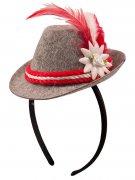 Bayrischer Mini-Hut rot und grau Damen