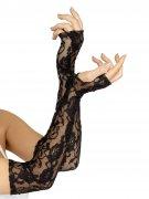 Fingerlose lange Spitzen-Handschuhe für Damen