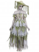 Zombie-Braut aus den Südstaaten Damenkostüm grau-grün