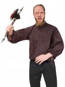 Mittelalterliches Herrenhemd braun