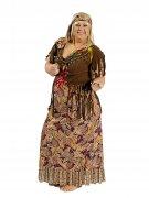 60er-Jahre Hippie-Verkleidung Damenkostüm braun-bunt