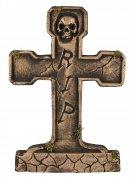Grabstein Halloween-Deko bronzefarben