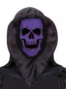 Totenschädel-Kopfbedeckung Halloween Kostümzubehör schwarz-lila