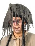 Gespenstischer Piratenhut mit Fetzen Kostümzubehör grau