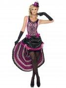 Burlesque-Damenkostüm Showgirl pink-schwarz