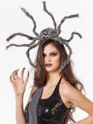 Halloween-Kopfschmuck - Riesenspinne - grau