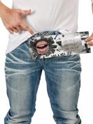 Scherzartikel Glory Hole to go Geschenkkarte bunt 10,5x29,7cm
