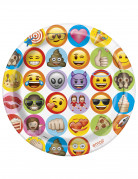 8 Pappteller Emoji™ 23 cm