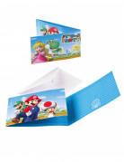 Einladungen und Umschläge Super Mario™ 8 Stück