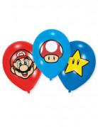 Latexballons Super Mario™ 6 Stück bunt