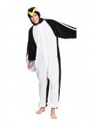 Pinguinkostüm für Erwachsene schwarz-weiss-gelb