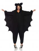 Fledermaus Jumpsuit mit Flügeln Halloween schwarz