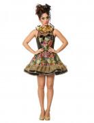 Verruchter Clown kostüm für Damen bunt