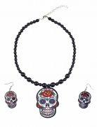 Halskette und passende Ohrringe dia de los muertos