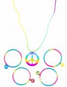 Hippie-Kette und Armbänder bunt