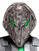 Alien Außerirdische-Maske für Erwachsene silber-grün