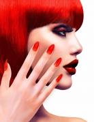 Künstliche Fingernägel mit Klebstoff rot