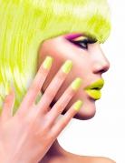 Künstliche Fingernägel neon-gelb