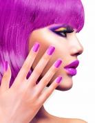 Künstliche Fingernägel mit Klebstoff lila