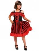 Spanische Tänzerin Kinder-Kostüm rot-schwarz
