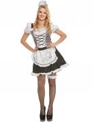 Zimmermädchen Kostüm für Damen schwarz-weiss