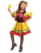 Spanische-Tänzerin Kostüm für Mädchen bunt